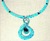 Necklace of wire and beads