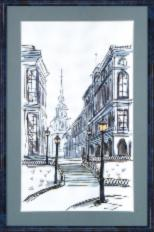 BT-009 Counted cross stitch kit Crystal Art The mysterious city. Catalog. Kits