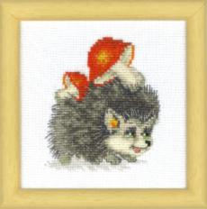 BT-018 Counted cross stitch kit Crystal Art Practical hedgehog. Catalog. Kits