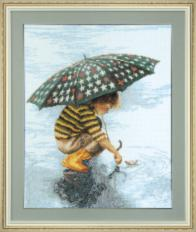 BT-014 Counted cross stitch kit Crystal Art First Thunderstorm. Catalog. Kits