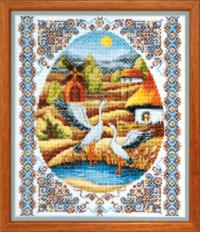 BT-011 Counted cross stitch kit Crystal Art On water meadows. Catalog. Kits