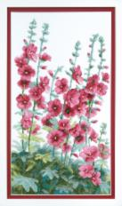 BT-013 Counted cross stitch kit Crystal Art Flowers at the house. Catalog. Kits