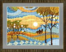 BT-1009 Counted cross stitch kit Crystal Art Marvellous evening. Catalog. Kits