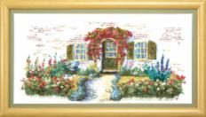BT-006 Counted cross stitch kit Crystal Art Cozy cottage. Catalog. Kits