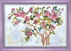 BT-1007 Mixed technique stitch kit Crystal Art Blooming dog-rose. Catalog. Kits