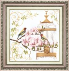BT-037 Counted cross stitch kit Crystal Art Singing of birds. Catalog. Kits