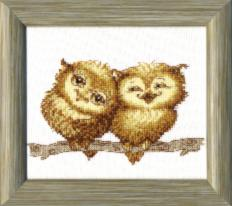 BT-059 Counted cross stitch kit Crystal Art Small owlets. Catalog. Kits