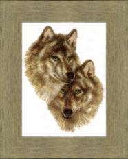 BT-058 Counted cross stitch kit Crystal Art Wolf and she-wolf. Catalog. Kits