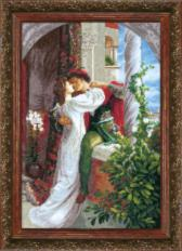 BT-034 Counted cross stitch kit Crystal Art By Francis Bernard Dicksee Romeo and Juliet. Catalog. Kits