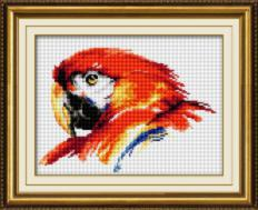 027T Kits for drawing by pebbles (canvas) Bright parrot (Lasko) . Catalog. Kits
