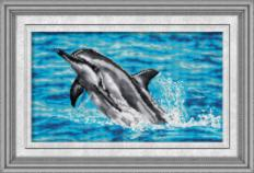 023T Kits for drawing by pebbles (canvas) Dolphin (Lasko) . Catalog. Kits